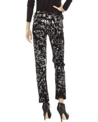 McQ - New For Ss12 - Black & White Skinny Ankle Jeans - Lyst