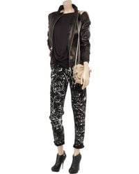 McQ | New For Ss12 - Black & White Skinny Ankle Jeans | Lyst