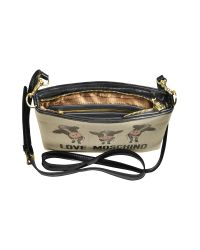 Moschino - Natural Cow Canvas and Patent Shoulder Bag - Lyst