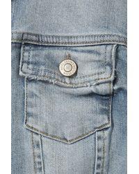 TOPSHOP - Blue Embroidered Denim Vest By Kuccia - Lyst