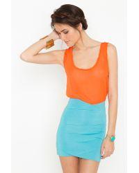 Nasty Gal - Blue Tulip Bandage Skirt  - Lyst
