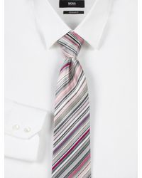 Paul Smith | Pink Striped Silk Tie for Men | Lyst