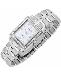 Raymond Weil | Metallic Parsifal Ladies Diamond Frame Mother Of Pearl Date Watch | Lyst