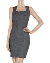 Roland Mouret | Blue Swanilda Stretch-denim Dress | Lyst