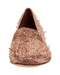 Sam Edelman | Pink Spike-embellished Satin Slippers | Lyst
