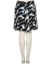 TOPSHOP - Blue Windy Stripe Print Flippy Skirt - Lyst