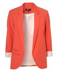 TOPSHOP | Orange Tangerine Boyfriend Blazer | Lyst