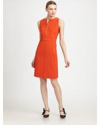 Tory Burch | Orange Mariel Sleeveless Dress | Lyst