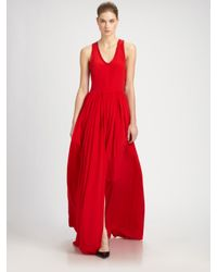 Yigal Azrouël | Red Silk Gown | Lyst