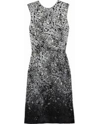 Lanvin | Gray Printed Silkblend Satin Dress | Lyst