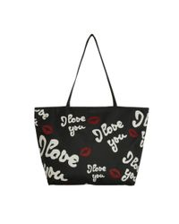 Lulu Guinness | Black I Love You City Tote | Lyst