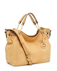 Michael Kors | Brown Jet Set Chain Medium Gather Shoulder Tote, Tan | Lyst