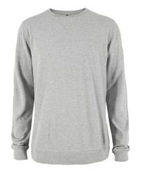 Nudie Jeans | Gray Sweatshirt Grey Melange for Men | Lyst