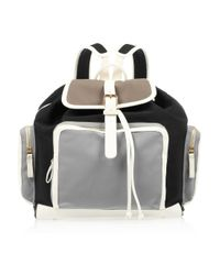 Pierre Hardy | Black Leather-trimmed Neoprene Backpack | Lyst