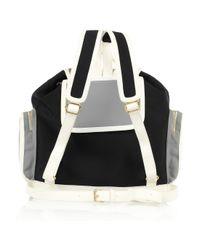 Pierre Hardy   Black Leather-trimmed Neoprene Backpack   Lyst