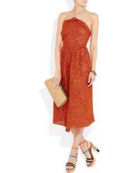 Roland Mouret | Brown Rouncewell Silk-blend Dress | Lyst