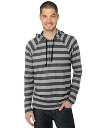 Splendid | Black Heather Grey Stripe Hoodie for Men | Lyst