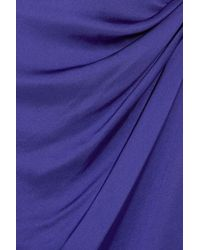Theory | Purple Playara Draped Silk-satin Dress | Lyst
