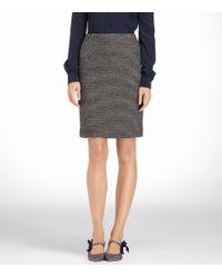 Tory Burch - Gray Deidre Dash Tweed Skirt - Lyst