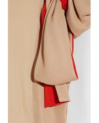 Vionnet - Natural Color-Block Silk-Georgette Blouse - Lyst