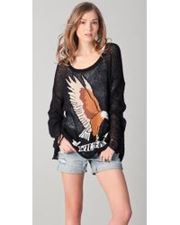 Wildfox | Black White Label Eagle Sweater | Lyst