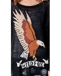 Wildfox | Black White Label Eagle Sweater | Lyst