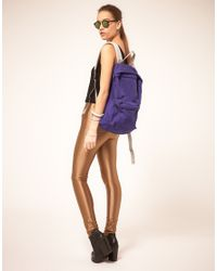American Apparel | Purple Nylon Backpack | Lyst
