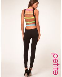 ASOS Collection | Black Asos Petite Unitard with Rave Slash Back Detail | Lyst