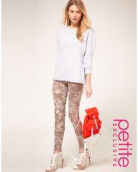 ASOS Collection - Brown Asos Petite Exclusive Tie Dye Leggings - Lyst