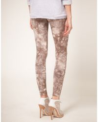 ASOS Collection | Brown Asos Petite Exclusive Tie Dye Leggings | Lyst