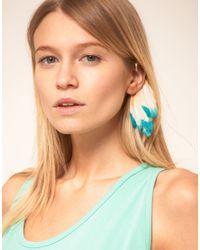 ASOS Collection - Multicolor Asos Dip Dye Feather Ear Cuff - Lyst