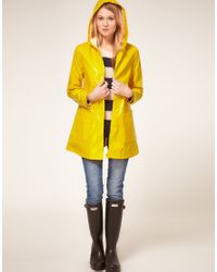 ASOS Collection - Yellow Asos Petite Exclusive Plastic Rainmac - Lyst