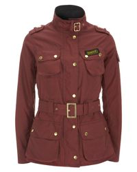 Barbour | Brown Burgundy Summer Wax International Jacket | Lyst