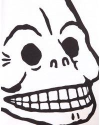 Cheap Monday | White Carolina Skull T-shirt | Lyst