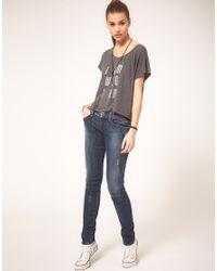 DIESEL | Blue Getlegg Skinny Jean | Lyst