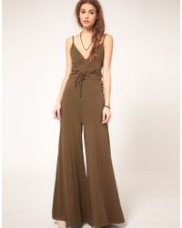 DIESEL | Brown Wide Leg Jumpsuit | Lyst