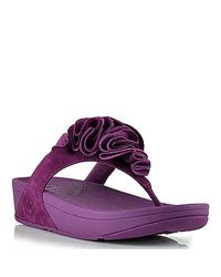 Fitflop | Frou - Purple Suede Flower Thong Sandal | Lyst