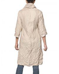 Femme - Natural Oversized Linen Trench Coat - Lyst