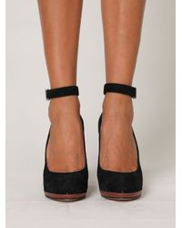 Free People | Black Lana Ankle Strap Heel | Lyst