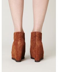 Free People - Brown Lantana Wedge Ankle Boot - Lyst