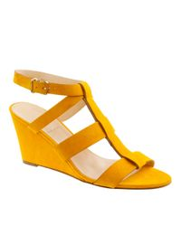 J.Crew | Yellow Olympia Suede Wedges | Lyst