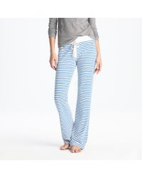 J.Crew | Blue Dreamy Cotton Pant in Stripe | Lyst