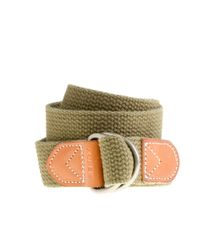 J.Crew - Green Cotton Webbing D-ring Belt for Men - Lyst