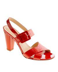 J.Crew | Red Sydney Patent Sandals | Lyst