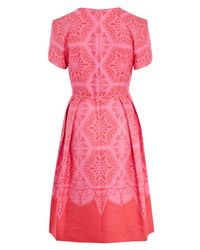 Jonathan Saunders - Pink Alexandra Printed Dress - Lyst