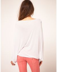 Miss Sixty - White Printed Batwing Top - Lyst