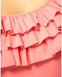 Mouille' - Pink Mouille Chloe Frill One Piece Suit - Lyst