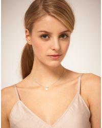 Swarovski | Metallic Orelia Mop Flower Short Pendant Necklace | Lyst
