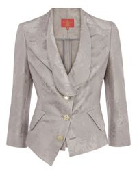 Vivienne Westwood Red Label - Gray Grey Jacquard Print Fitted Jacket - Lyst