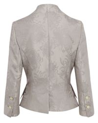 Vivienne Westwood Red Label | Gray Grey Jacquard Print Fitted Jacket | Lyst